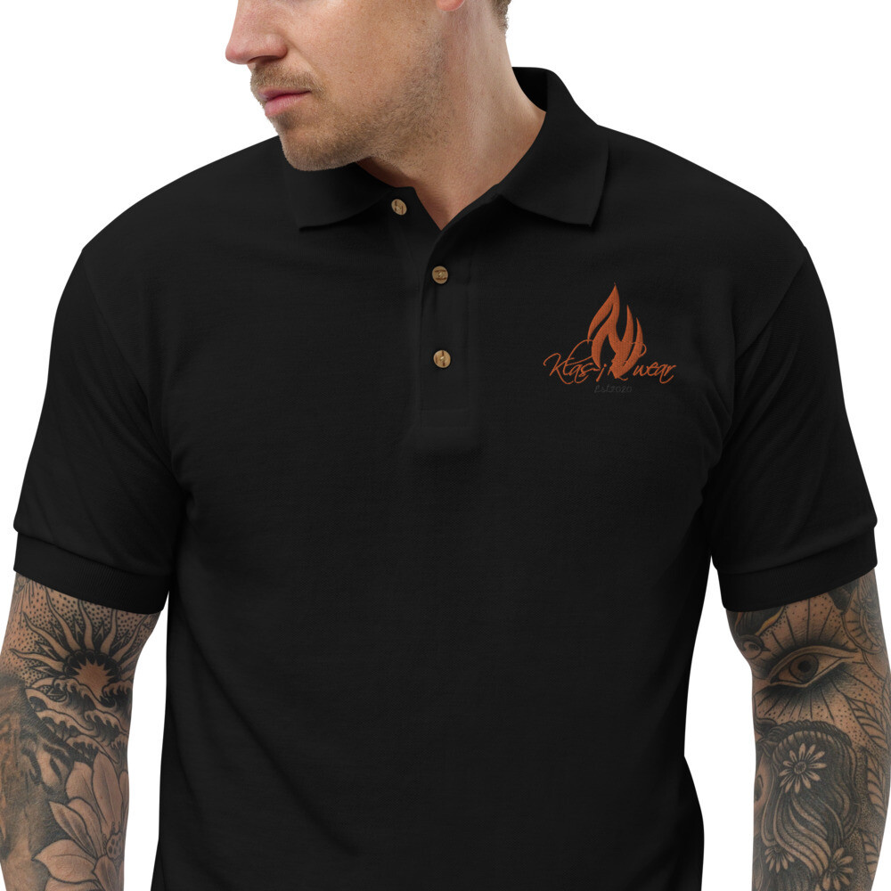 New Flame KW Embroidered Polo Shirt