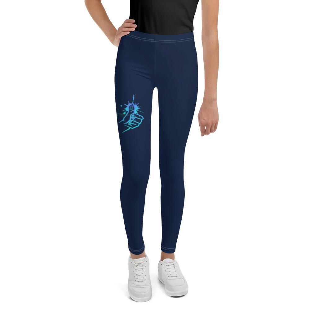 Girl's Navy Kj&m Brand Leggings