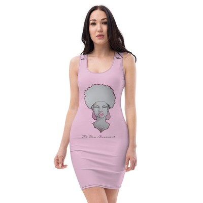 Pink Fitted Queen Cut & Sew Dress