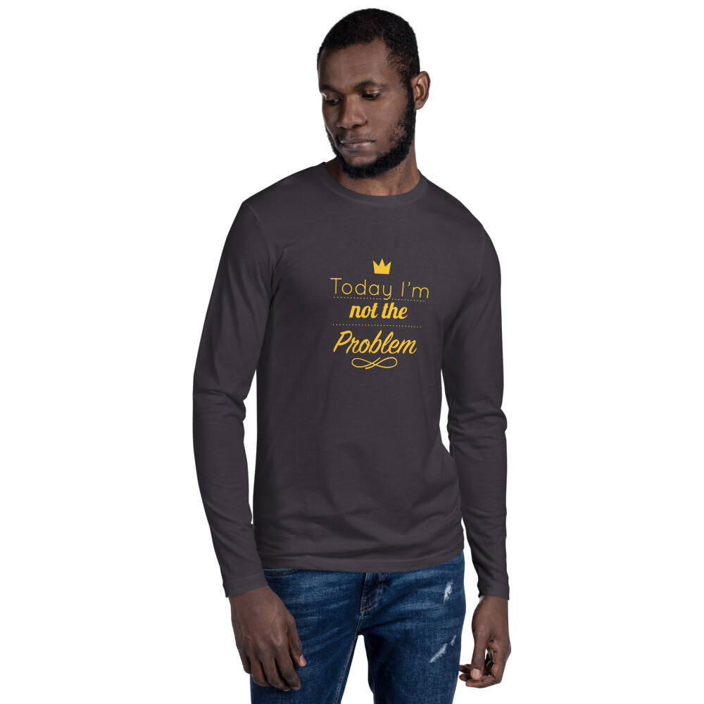 Long Sleeve Slogan Fitted Crew Tee