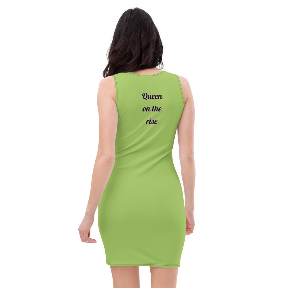 Fitted Green Queen Cut & Sew Dress