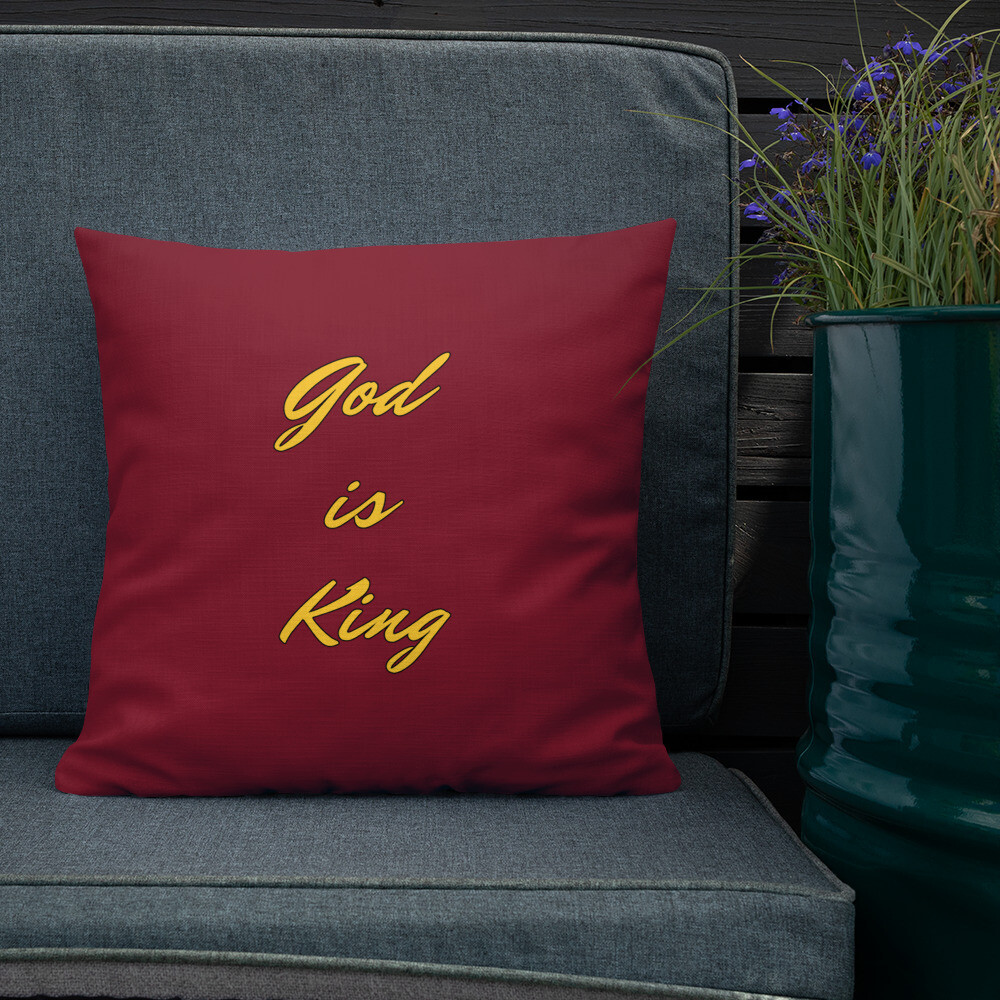 Premium Maroon God Decorative Pillow
