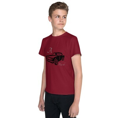 Youth Maroon Slogan crew neck t-shirt