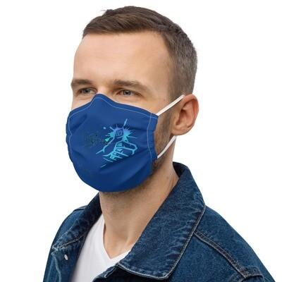 Royal Blue Kj&m Klas-ik face mask