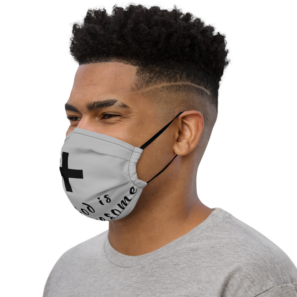 Gray Cross Face Mask