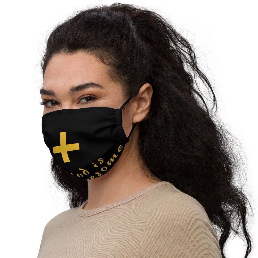 Black Spiritual Cross face mask