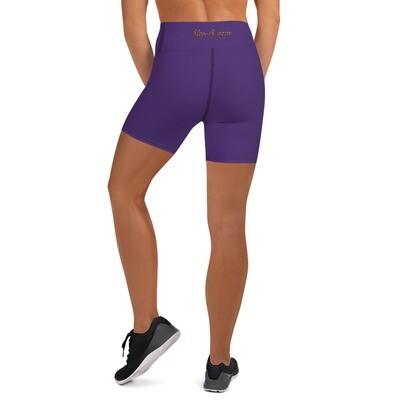 Purple KW Yoga Shorts