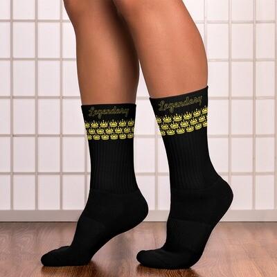 Black Golden Crown Socks