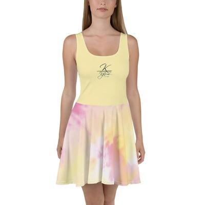 Yellow Kj&m TD Skater Dress