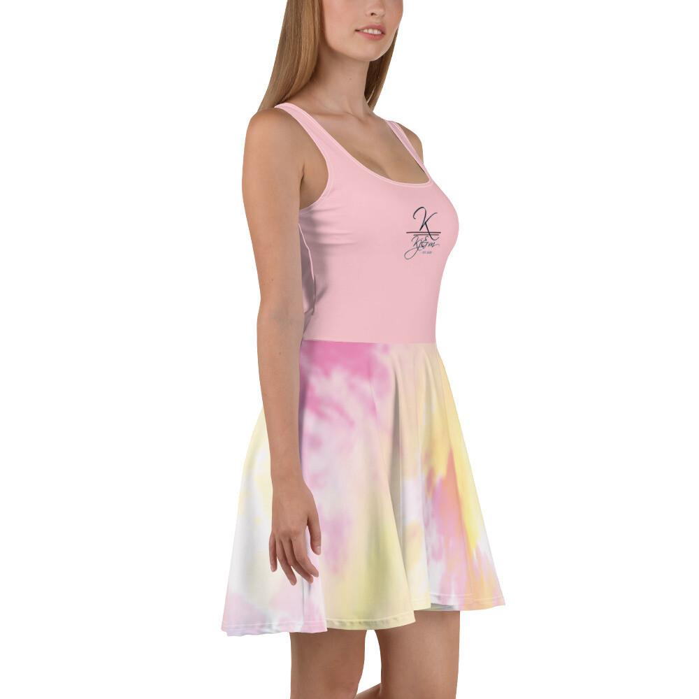 Light Pink Tye Dye Kj&m Skater Dress