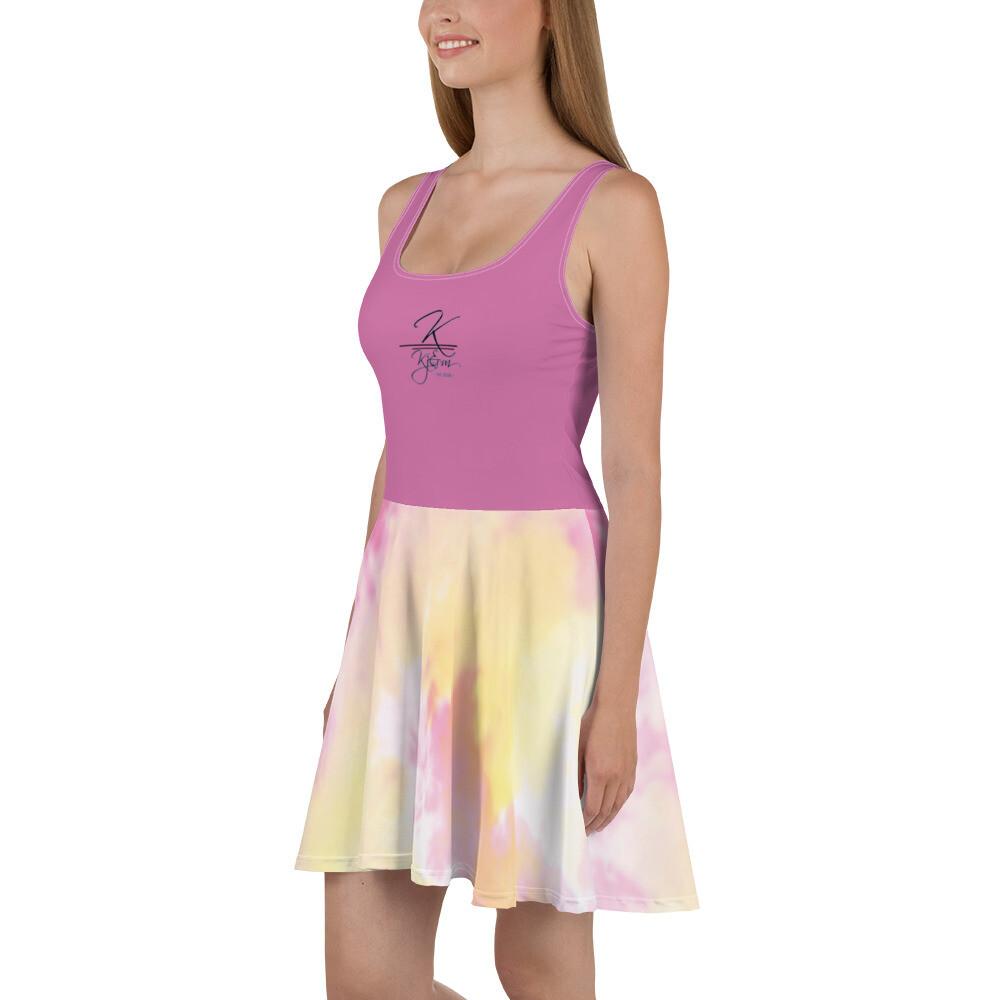 Tye Dye Hot Pink Skater Dress