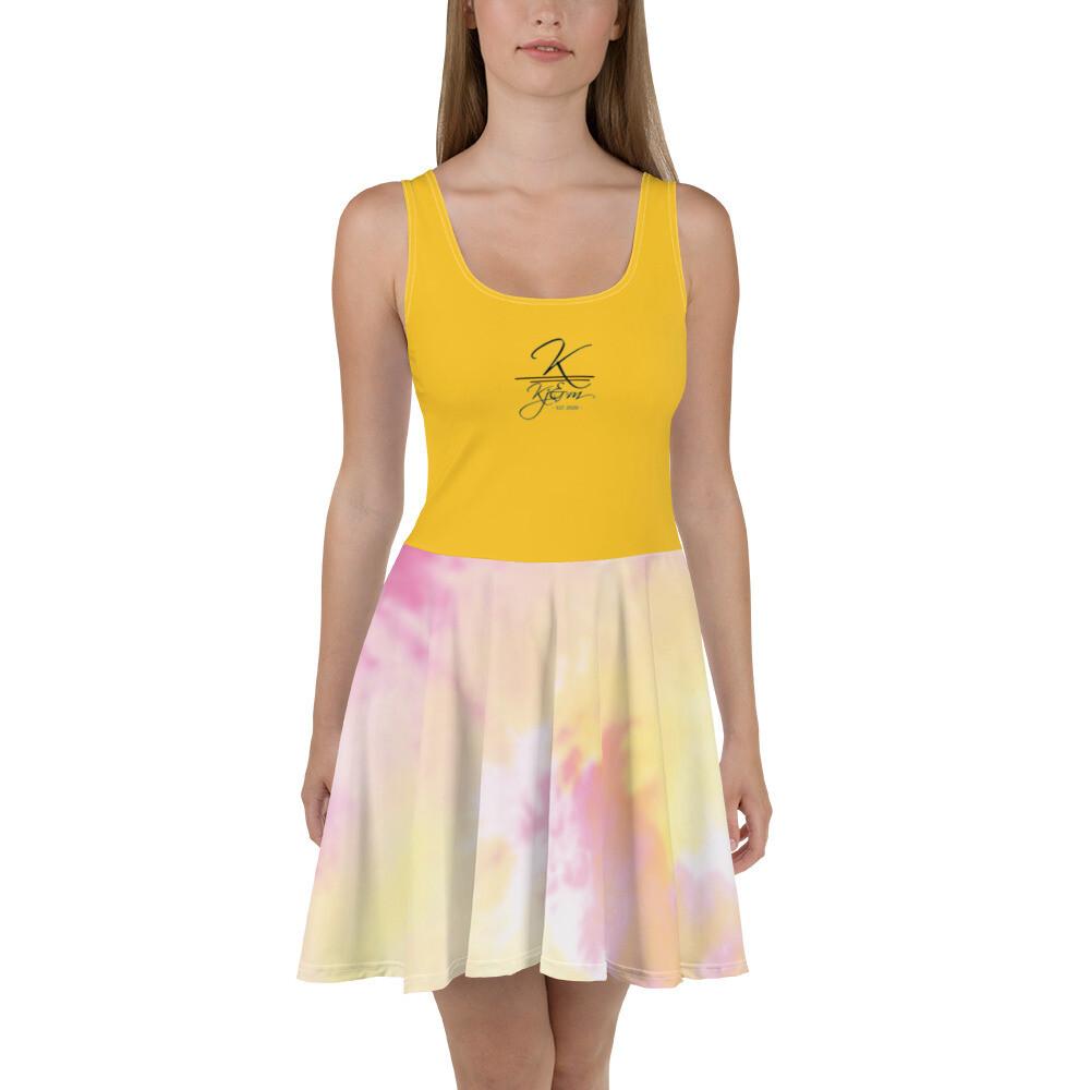 Gold Kj&m TD Skater Dress