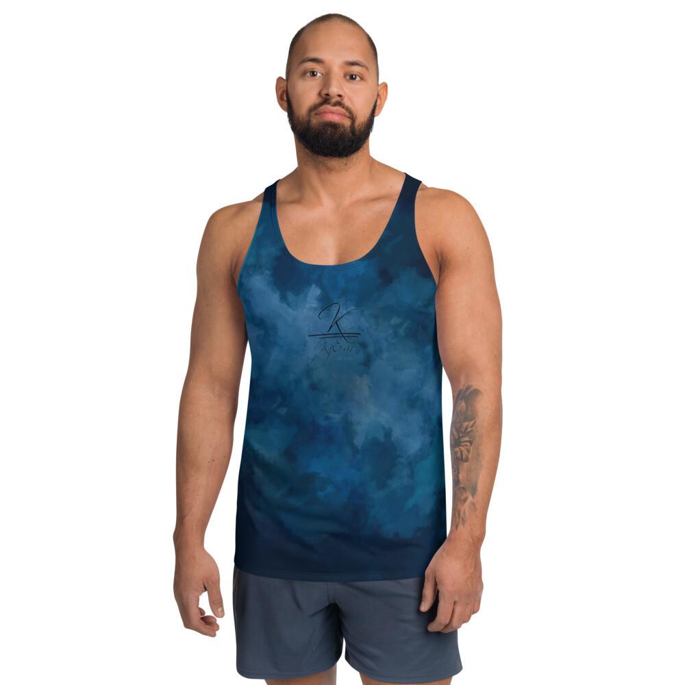 Blue Water Color Kj&m Tank Top