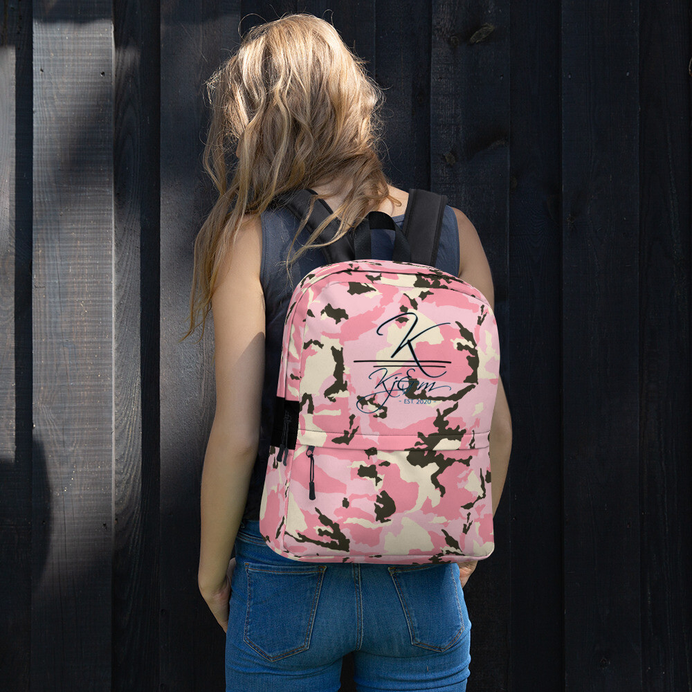 Pink Camo Ladies Backpack