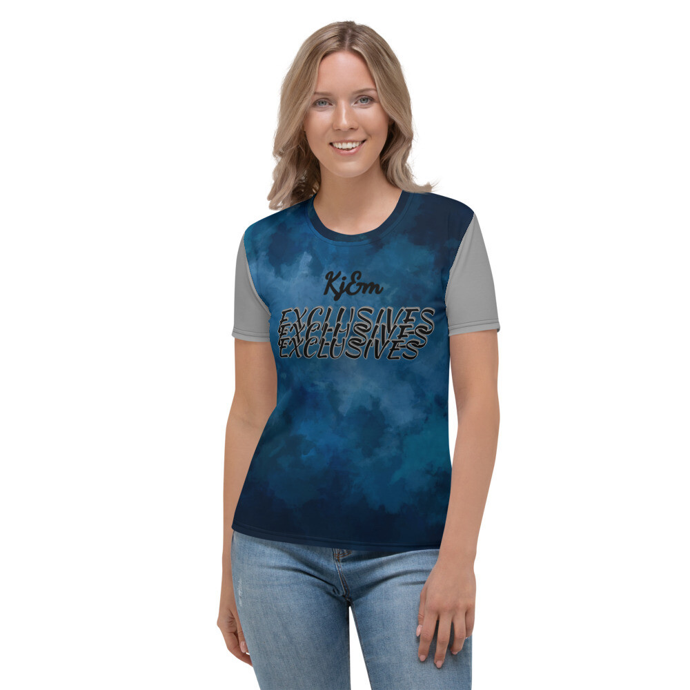 Women's Blue Water Exclusive Kj&m T-shirt