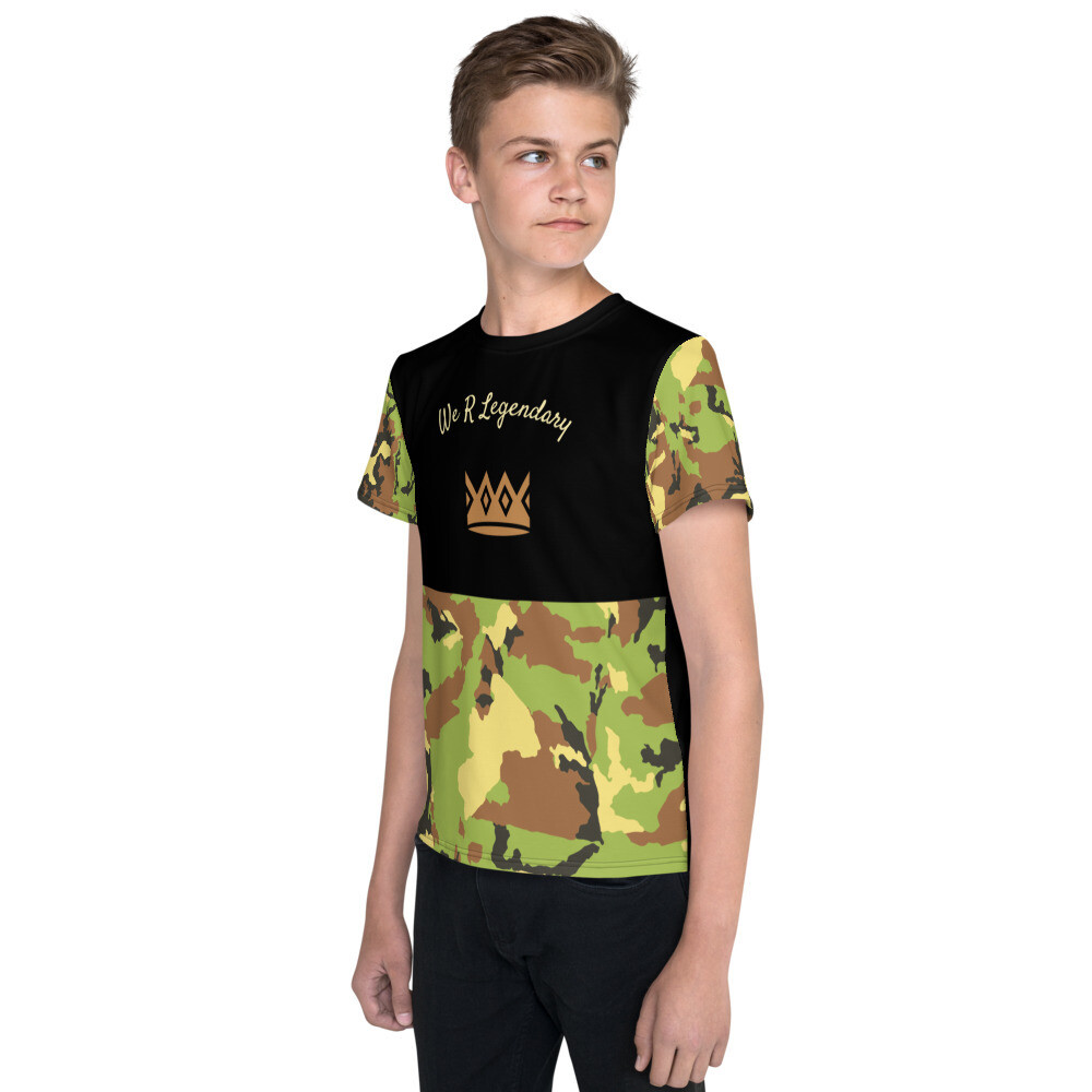 Youth crew neck WRL Camo t-shirt