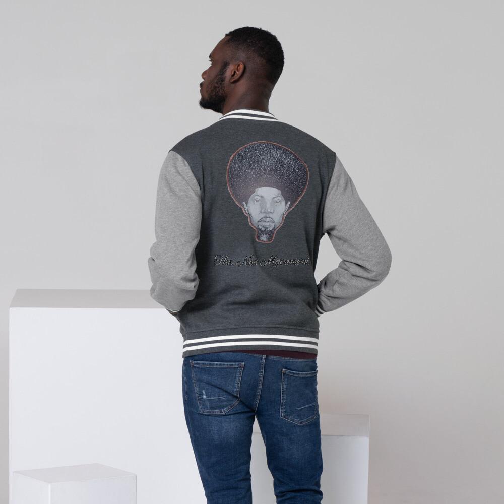 Men's Gray King Letterman Jacket