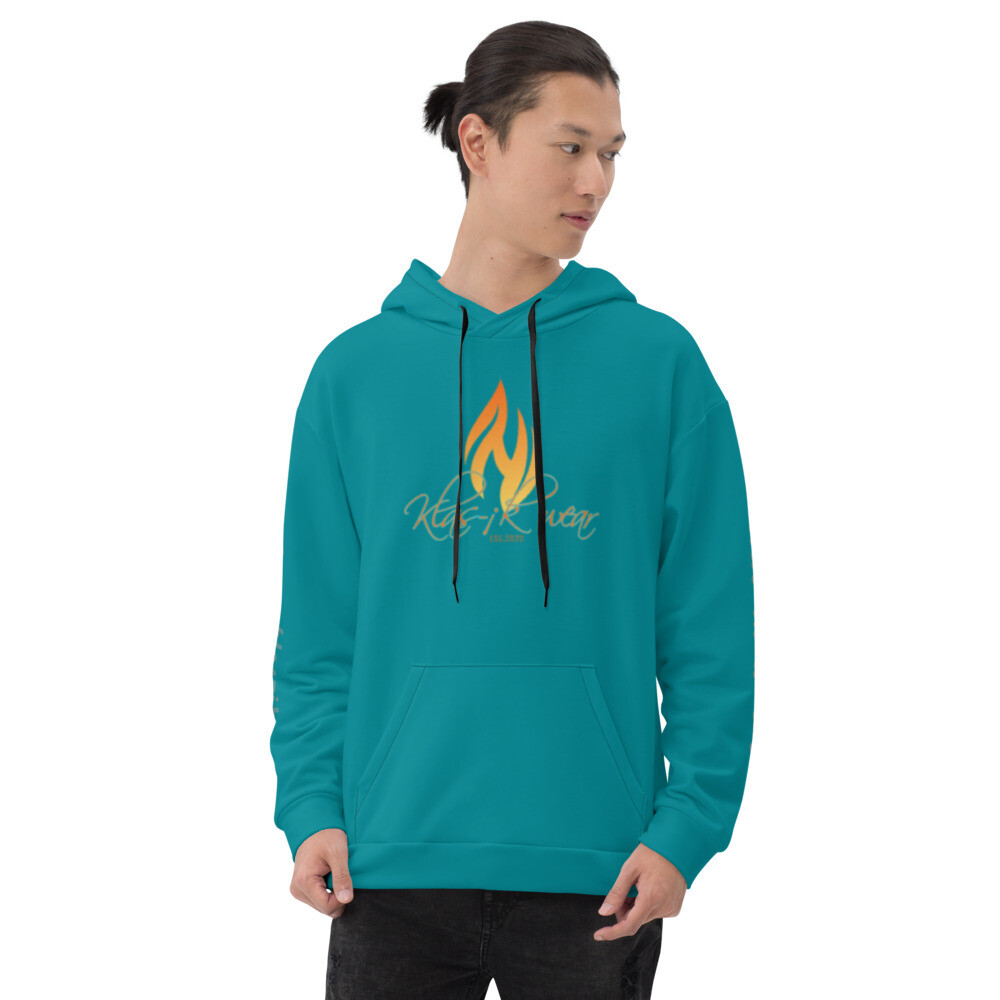 Torquoise KW New Flame  Hoodie