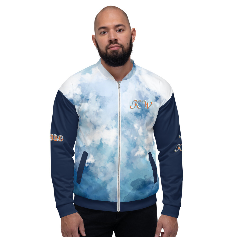 KW Denim Look Bomber Jacket