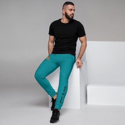 Men's Torquoise New Flame KW Joggers