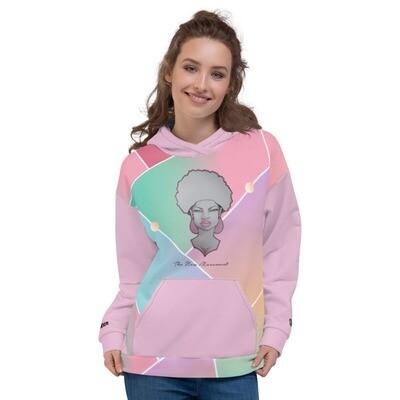 Queen Pink Glass Printed Hoodie