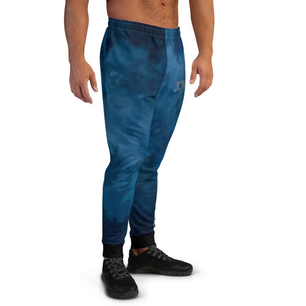 Men's Black Ankle Water Print KW Joggers