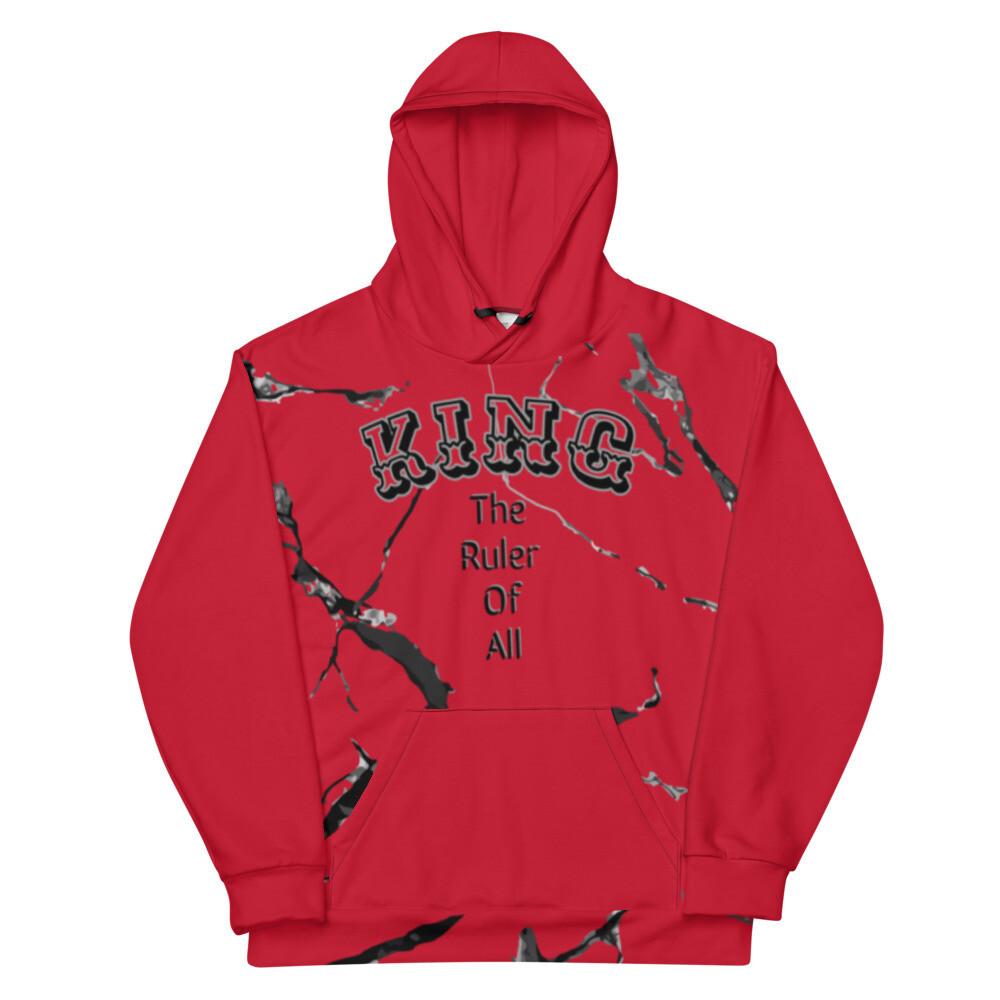 Red Marble King's Hoodie