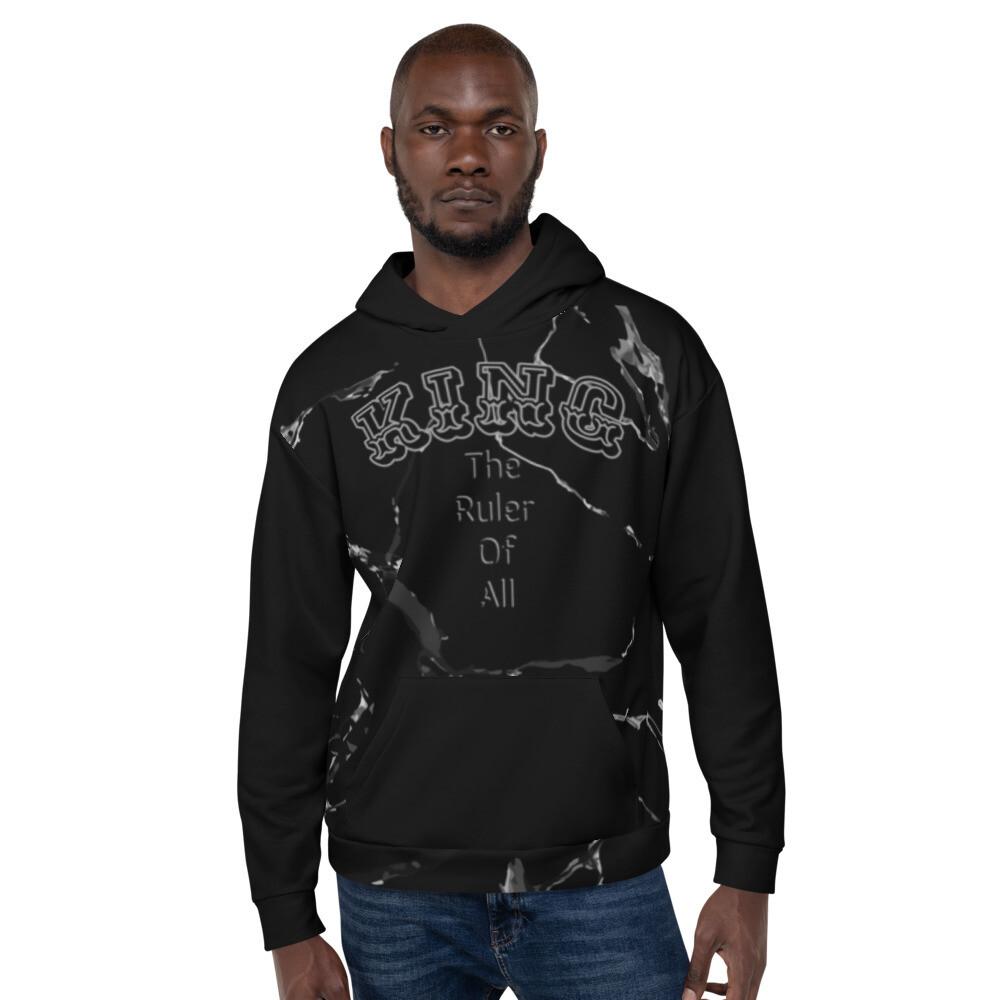 Men's Black Marble King Hoodie