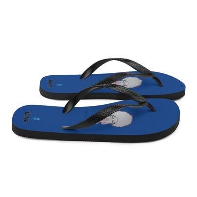 Queen Royal Blue Flip-Flops