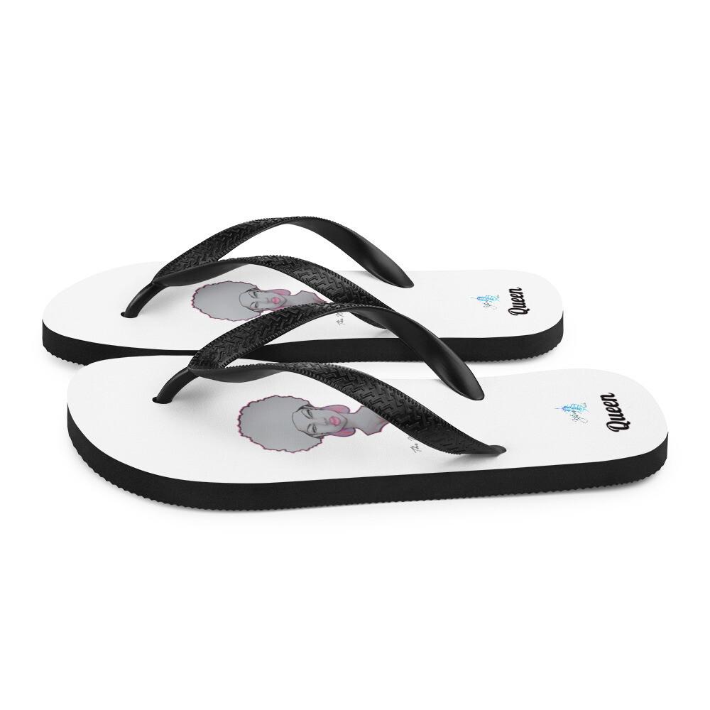 White Queen Flip-Flops