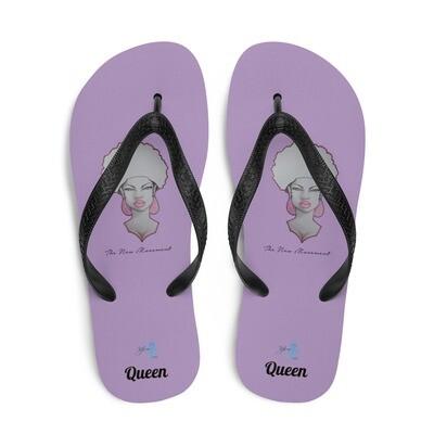 Queen Purple Flip-Flops