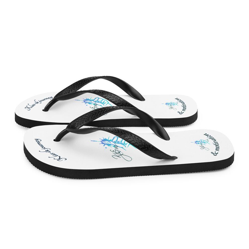 White Kj&m Flip-Flops
