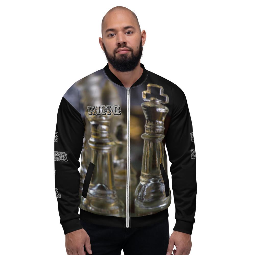 Black Men's King Bomber Jacket