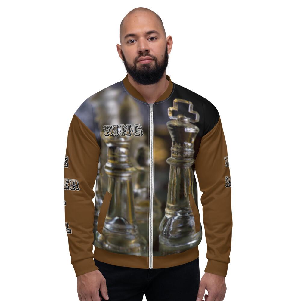 Men's Brown King Bomber Jacket
