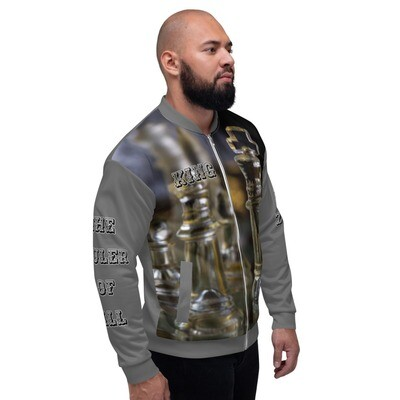 Gray Men's King Bomber Jacket