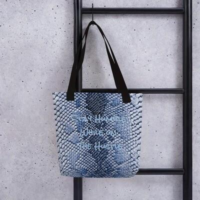 Blue Snake Skin Print Tote bag