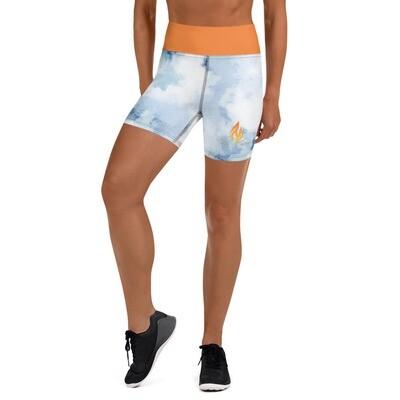 Orange Band KW Denim Shorts
