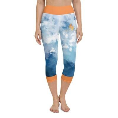 Yoga KW Orange Trim Capri Leggings