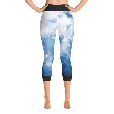 Black Trim KW Yoga Capri Leggings