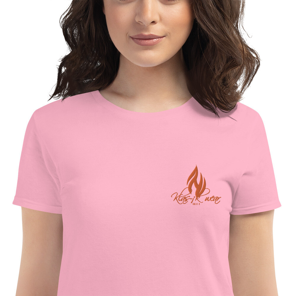 Women's Embroidered KW Short Sleeve Shirt