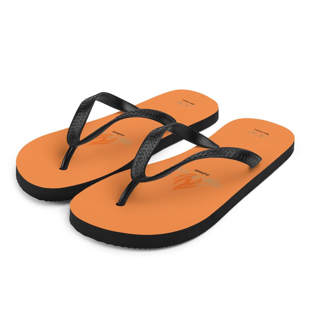 Orange Klas-ik Wear Flip-Flops