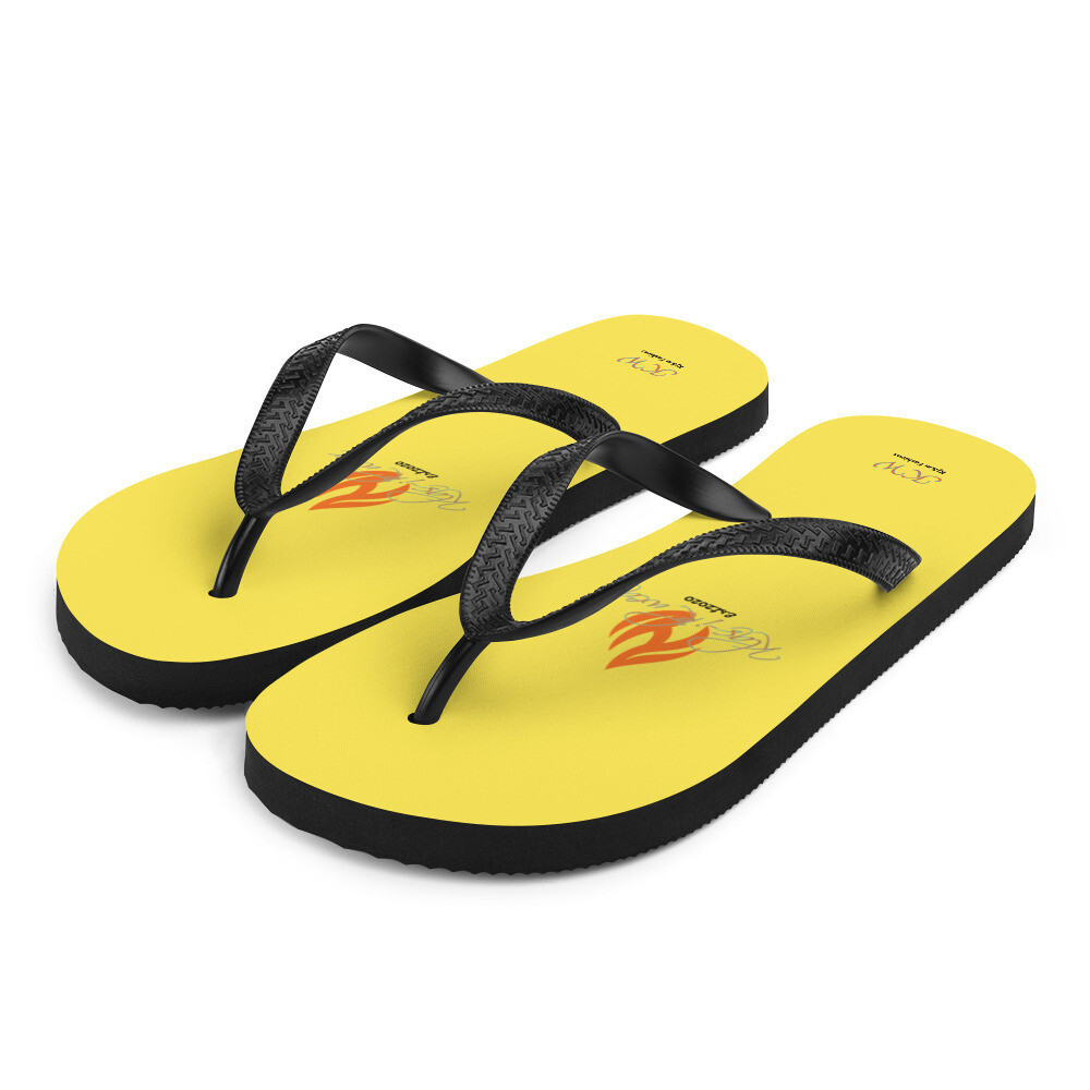 Yellow Klas-ik Wear Flip-Flops
