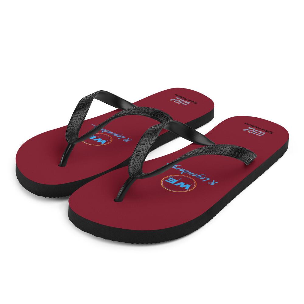 Maroon WRL Flip-Flops