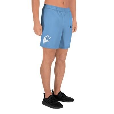 Young Men's Light Blue K Le'Roy Athletic Long Shorts