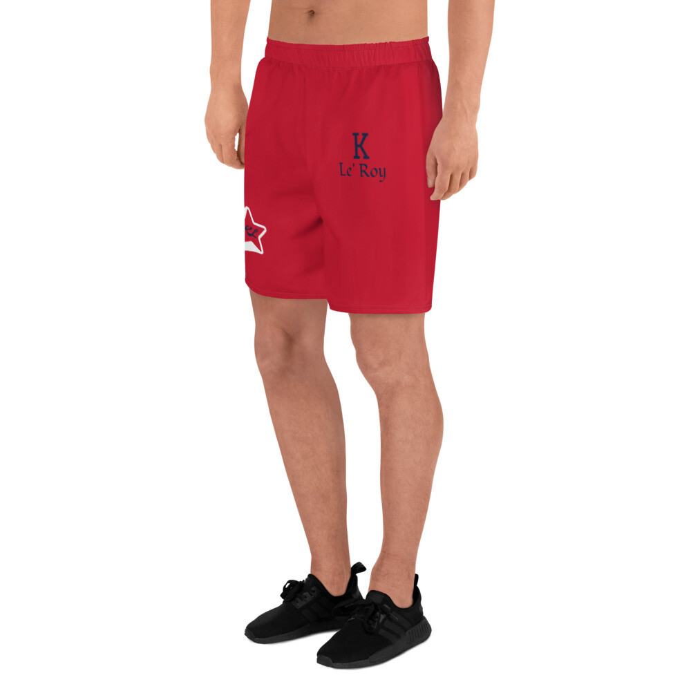 Young Men's K Le'Roy Red Athletic Shorts