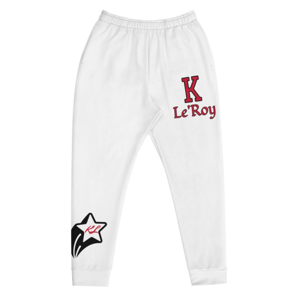 White Young Men's K Le'Roy Joggers