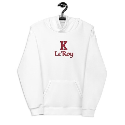 Young Men's White K Le'Roy Hoodie