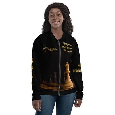 Women's Chess Piece Queen Bomber Jacket
