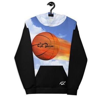 Black Detailed K Le'Roy Basketball Theme Hoodie