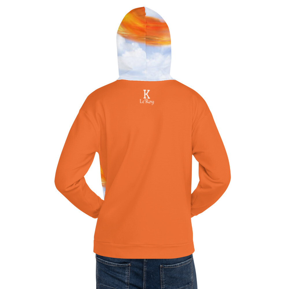 K Le'Roy Orange Detail Basketball Theme Hoodie